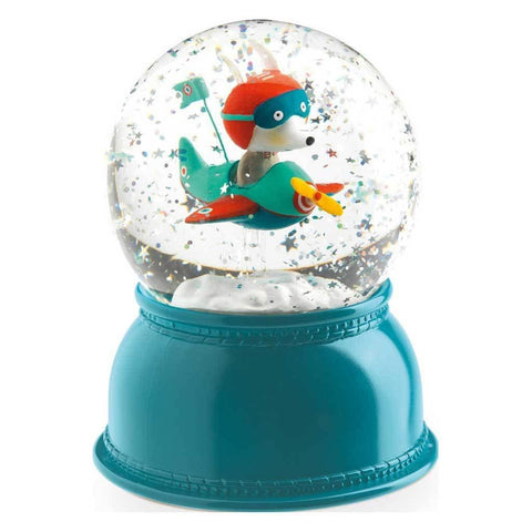 Airplane Night Light Snow Globe - insideout-home