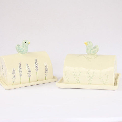 Porcelain Butter Dish With Bird - insideout-home