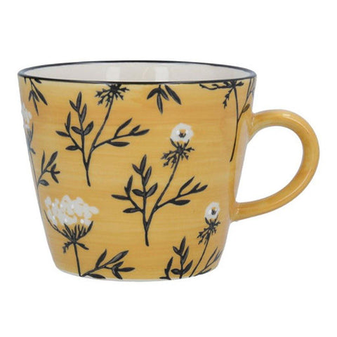 Mustard Cow Parsley Ceramic Mug - insideout-home