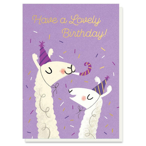 Lovely Llamas Birthday Card - insideout-home