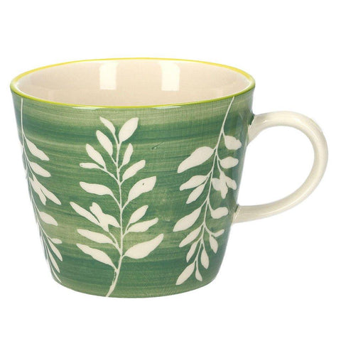 Green Leaves Silhouette Ceramic Mug - insideout-home