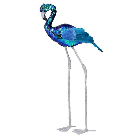 Blue Sequined Flamingo - insideout-home