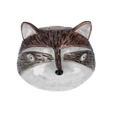 Ceramic Mini Raccoon Head Hanging Planter - insideout-home
