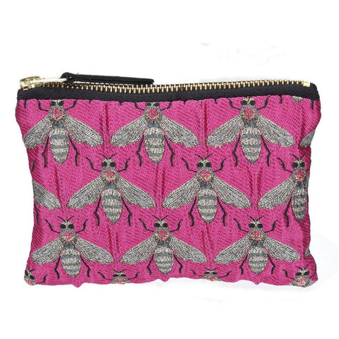 Fuschia Bee Jacquard Purse - insideout-home