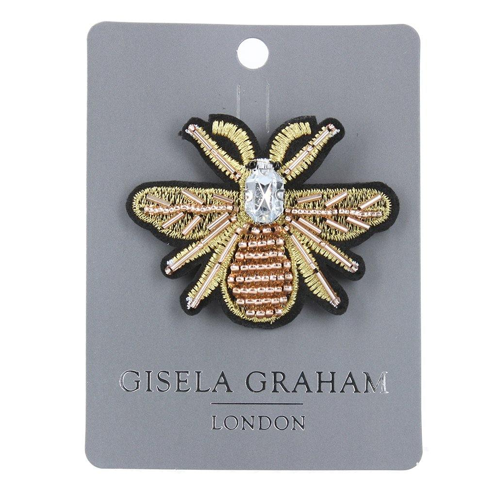 Beaded Large Bee Brooch, Building Toys by Insideout