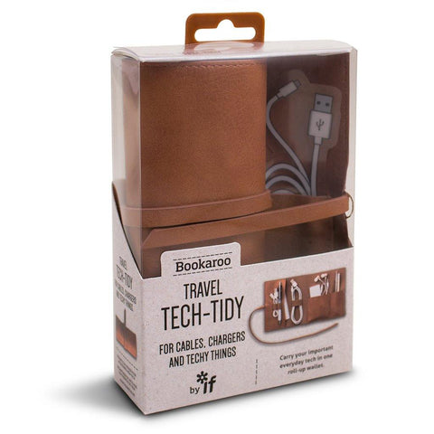Bookaroo Travel Tech Tidy Brown