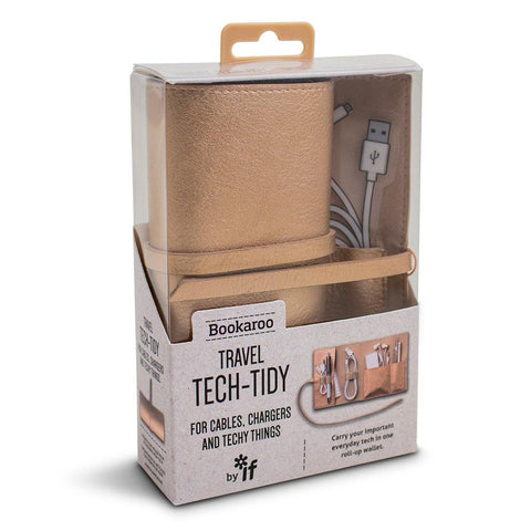 Bookaroo Travel Tech Tidy Copper - insideout-home