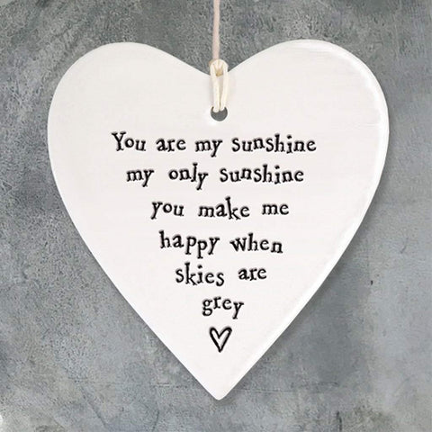 You Are My Sunshine Porcelain Heart - insideout-home