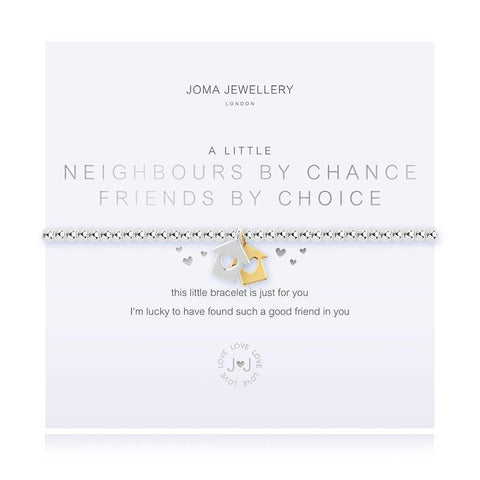 A Little Neighbours By Chance Friends By Choice Bracelet - insideout-home