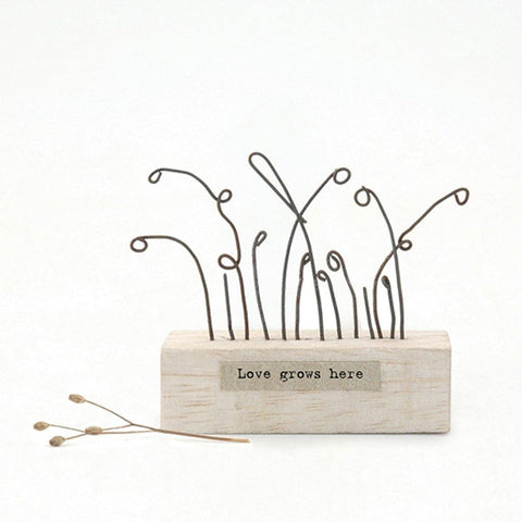 Love Grows Here Wood Scene - insideout-home