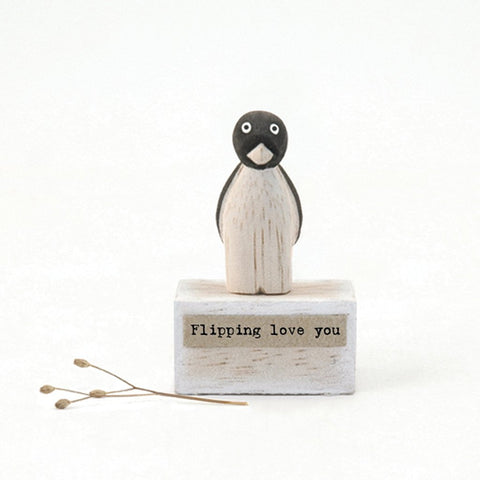 Flipping Love You Wooden Scene - insideout-home