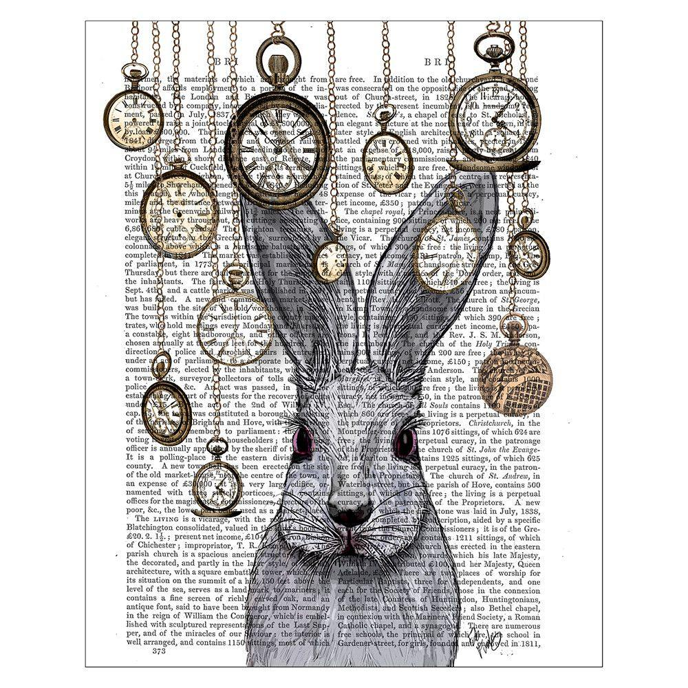 Rabbit Time Print by  Insideout
