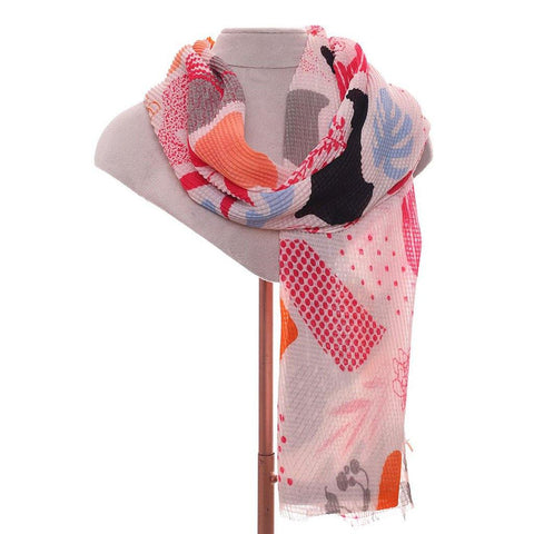 Flora Scarf Reds - insideout-home