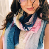 Screen Print Scarf With Abstract Pastel Print - insideout-home