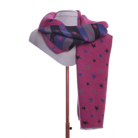 Star Print Scarf Pink - insideout-home