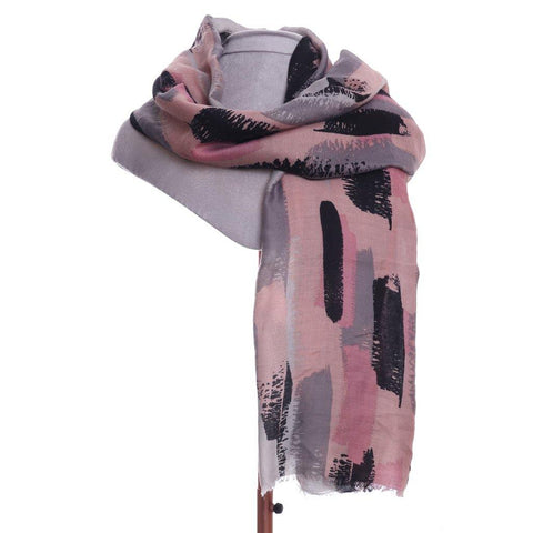 Brush Stroke Scarf Pink - insideout-home