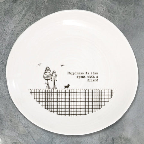 Happiness Is Time Spent With A Friend Plate - insideout-home