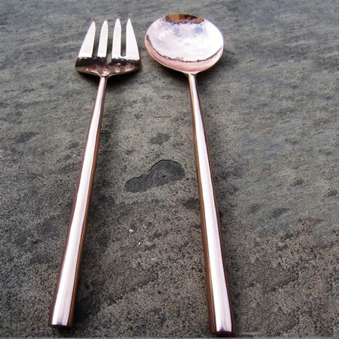 Rose Gold Salad Servers - insideout-home