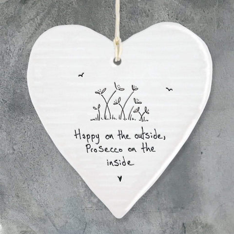 Happy On The Outside Hanging Heart - insideout-home