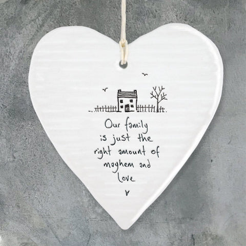 Our Family Hanging Heart - insideout-home