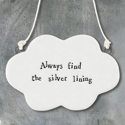 Always Find The Silver Lining Hanging Cloud - insideout-home