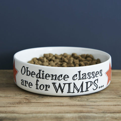 Obedience Classes Are For Wimps Large Bowl