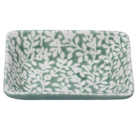 Green Floral Vines Mini Trinket Dish - insideout-home