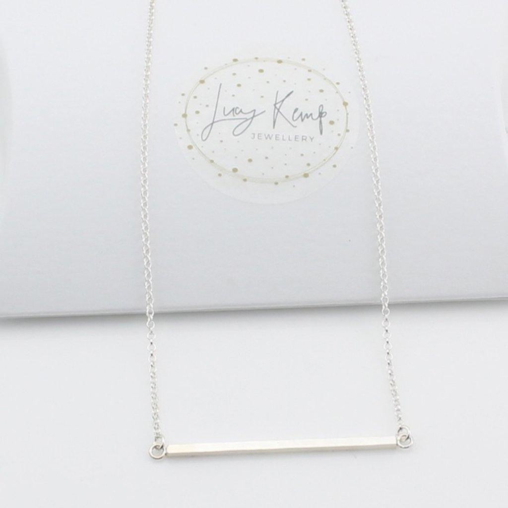 Sterling Silver Bar Necklace by  Insideout