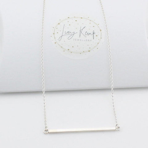 Sterling Silver Bar Necklace - insideout-home