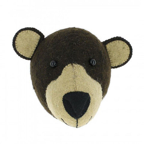 Mini Bear Head Wall Hanging - insideout-home