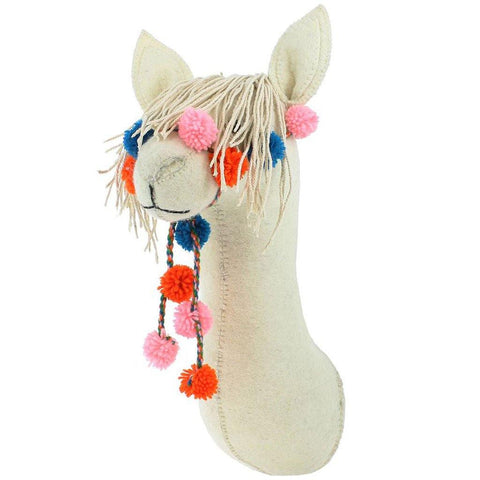 Llama With Bridle Head Wall Hanging - insideout-home