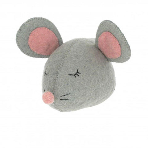 Mini Sleepy Mouse Head Wall Hanging - insideout-home