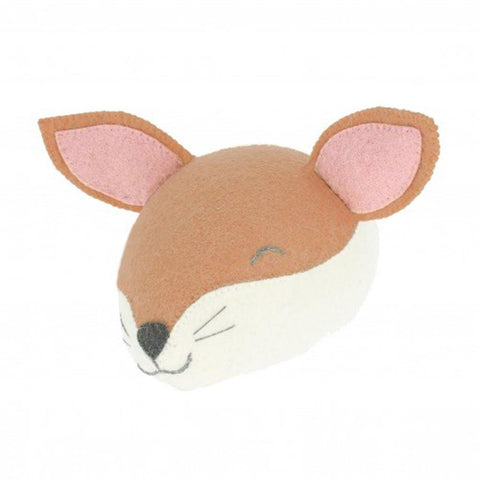 Mini Sleepy Fox Head Wall Hanging - insideout-home
