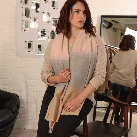 Pink & Camel Ombre Scarf - insideout-home