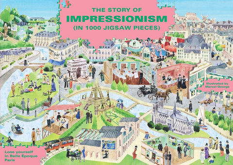 Story Of Impressionism 1000 Piece Jigsaw Puzzle - insideout-home
