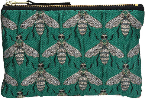 Green Bee Jacquard Purse - insideout-home