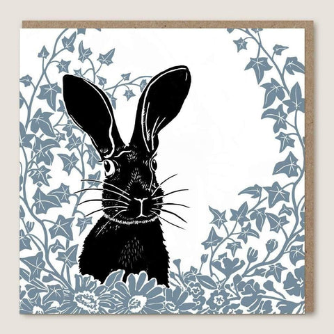 ACU22 Hare Leaves Card - insideout-home
