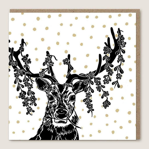 ACU23 Stag Leaves Card - insideout-home