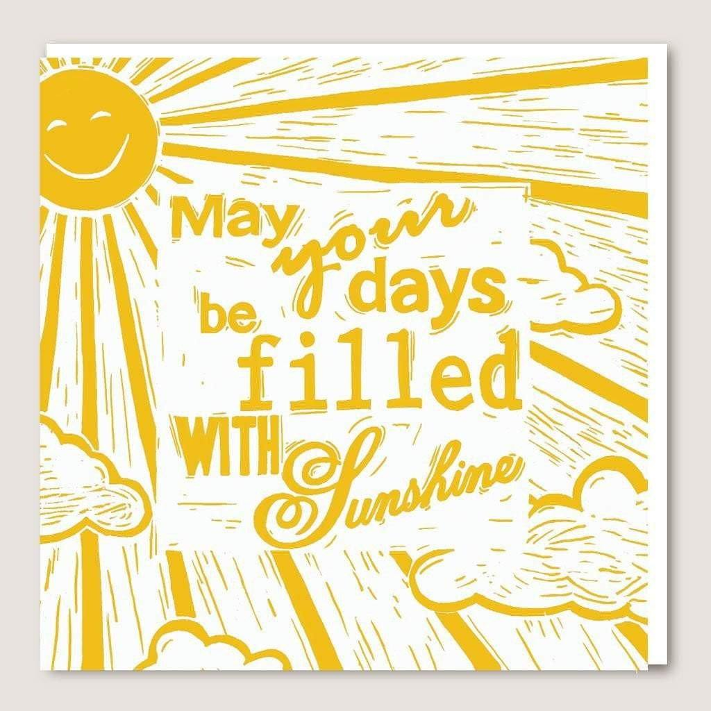 ACUW06 May Your Days Be Filled With Sunshine Card, Party & Celebration by Insideout