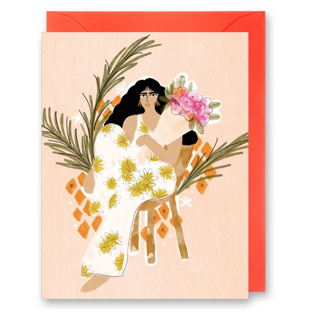 Lady With Bouquet Card by  Insideout