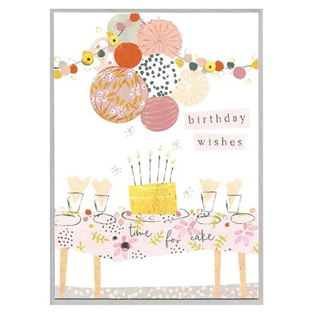 Birthday Wishes Bunting Card, Party & Celebration by Insideout