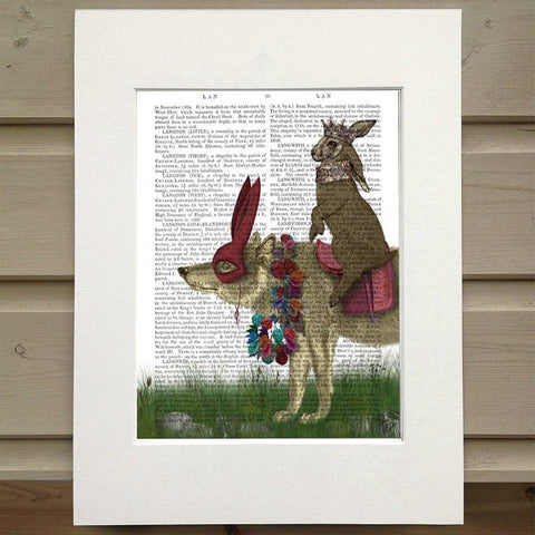 Arrival Of The Hare King Print - insideout-home