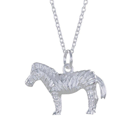 Sterling Silver Zebra Pendant Necklace - insideout-home