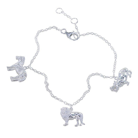Africa Sterling Silver Charm Bracelet - insideout-home