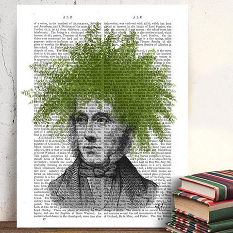 Asparagus Fern Head Mounted Print - insideout-home