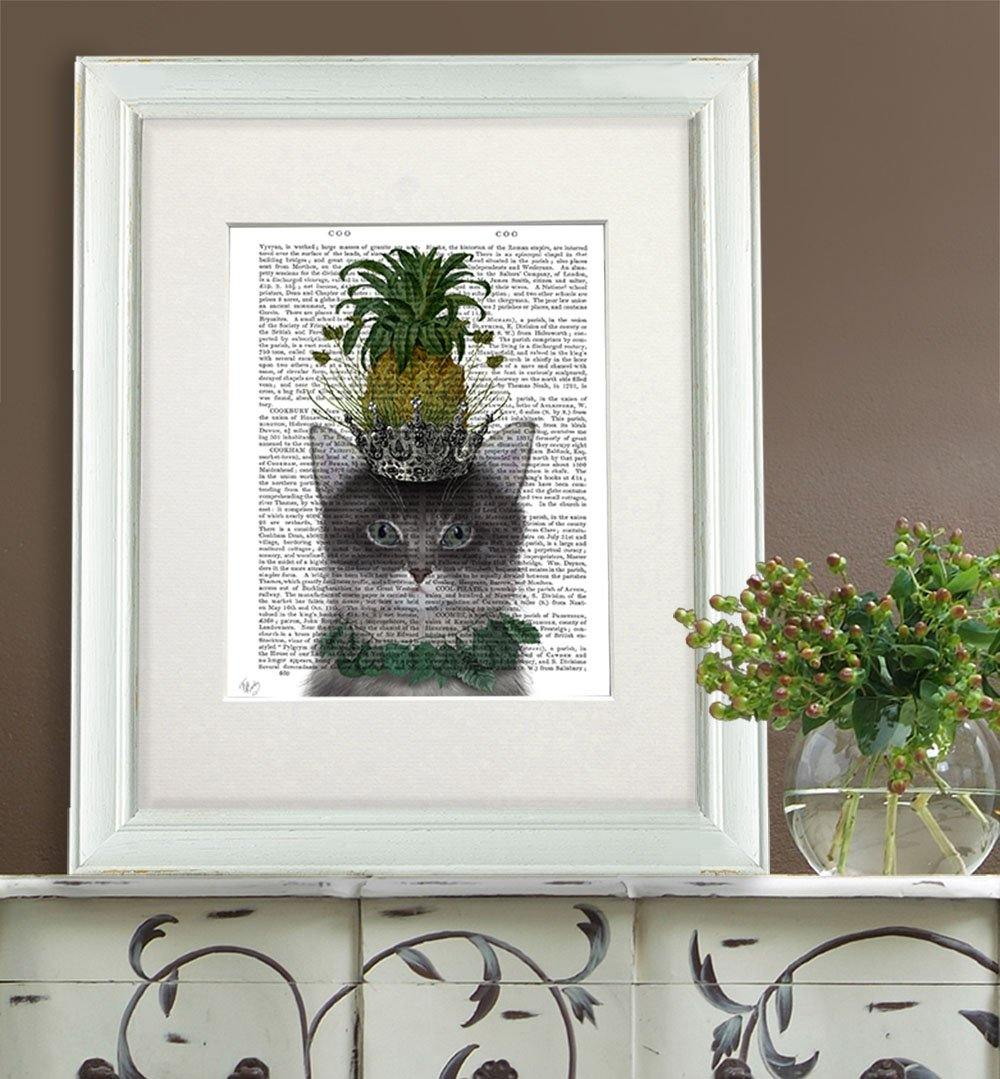 Pineapple Puss Print by  Insideout
