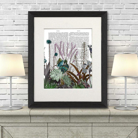 Wildflower Bloom Snail Bird Print - insideout-home