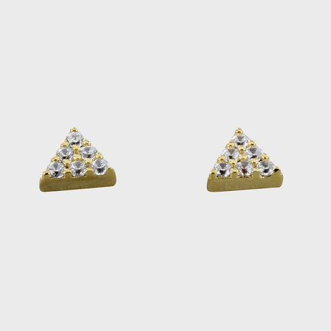 Pavé Gold Vermeil Triangle Studs - insideout-home