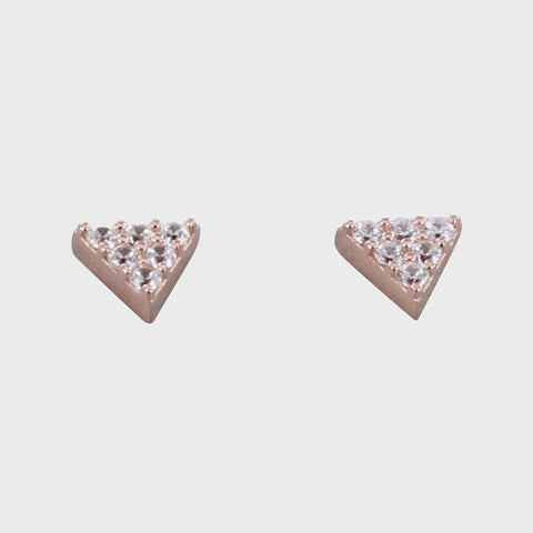 Pavé Rose Vermeil Triangle Studs - insideout-home