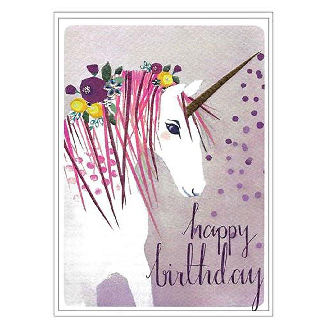 Happy Birthday Unicorn Card, Gift Giving by Insideout